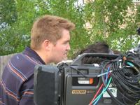 Director Chris Eska on the set of