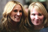 Julia Roberts and producer Jennifer Fox at the New York premiere of