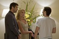 Gerard Butler, Katherine Heigl and Director Robert Luketic on the set of