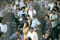 Director Danny Boyle on the set of