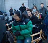 Director and Screenwriter Gina Prince-Bythewood on the set of