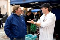 Producer Lorenzo di Bonaventura and Director/Executive Producer Stephen Sommers on the set of
