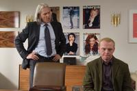 Jeff Bridges as Clayton and Simon Pegg as Sidney in