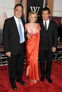 Director Oliver Stone, Elizabeth Banks and Josh Brolin at the New York premiere of