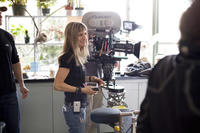 Director Catherine Hardwicke on the set of