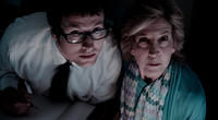 Leigh Whannell and Lin Shaye in