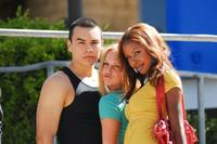Joseph Julian Soria, Ellie Gerber and Shani Pride in