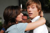 Najarra Townsend as Tru and Jake Abel as Trevor in