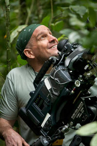 Photographer Bill Wallauer on the set of