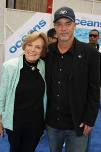Sylvia Earle and Jake Eberts at the premiere of