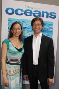 Celine Cousteau and Fabien Cousteau at the premiere of