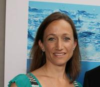 Celine Cousteau at the premiere of