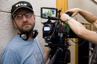 Director Steven Soderbergh on the set of