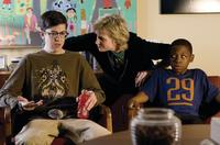 Christopher Mintz-Plasse as Augie, Jane Lynch as Sweeny and Bobb'e J. Thompson as Ronnie in