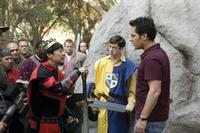 Ken Jeong as King Argotron, Christopher Mintz-Plasse as Augie and Paul Rudd as Danny in