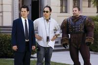 Paul Rudd, Director David Wain and Seann William Scott on the set of