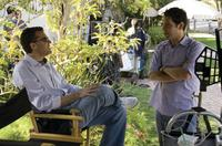 Producer Scott Stuber and Paul Rudd on the set of