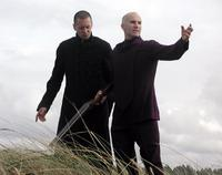 Jason Cottle as Russ and Dennis Kleinsmith as Reverend Marsh in