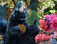 Cookie Monster and Abby in