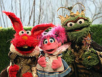 Elmo, Abby and Oscar in