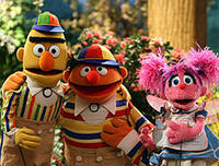 Ernie, Bert and Abby in