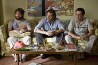 Zach Galifianakis as Alan, Bradley Cooper as Phil and Ed Helms as Stu in