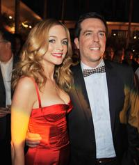 Heather Graham and Ed Helms at the after party of the California premiere of