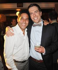 Oscar Nunez and Ed Helms at the after party of the California premiere of