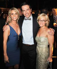 Cheryl Hines, Ed Helms and Rachael Harris at the after party of the California premiere of