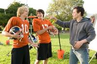 Eric Christian Olsen, Nicholas D'Agosto and Director Will Gluck on the set of