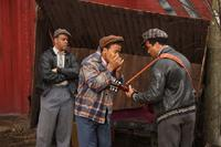Jimmy Rogers as Kevin Mambo, Columbus Short as Little Walter, Jeffrey Wright as Muddy Waters in