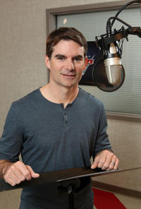 Jeff Gordon on the set of