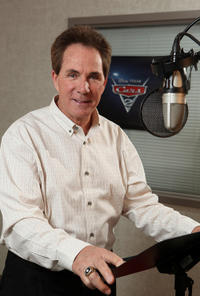 Darrell Waltrip on the set of