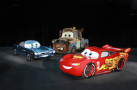 Finn McMissile voice by Michael Caine, Mater voice by Larry The Cable Guy and Lightning McQueen voice by Owen Wilson in