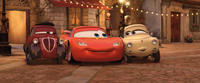 Uncle Topolino, Lightning McQueen and Mama Topolino in