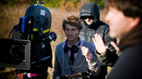 Writer/director Max Winkler on the set of