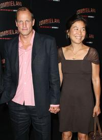 Woody Harrelson and Laura Louie at the California premiere of