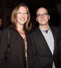 Kari Putnam and director Greg Mottola at the after party of the California premiere of