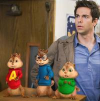 Alvin, Simon, Theodore and Zachary Levi as Toby in