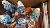 Grouchy, Gutsy, Brainy, Papa and Smurfette Smurf in