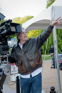 Director Raja Gosnell on the set of