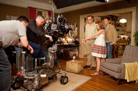 Raja Gosnell, Jayma Mays and Neil Patrick Harris on the set of