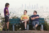 Jason Schwartzman as Mark, Seth Rogen as Ira and Jonah Hill as Leo in