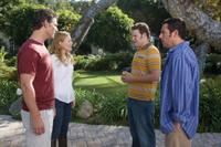 Eric Bana as Clarke, Leslie Mann as Laura, Seth Rogen as Ira and Adam Sandler as George in