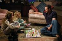 Maude Apatow as Mable, Iris Apatow as Ingrid and Adam Sandler as George in