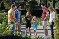 Seth Rogen as Ira, Adam Sandler as George, Maude Apatow as Mable, Iris Apatow as Ingrid, Eric Bana as Clarke and Leslie Mann as Laura in