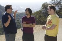 Jason Schwartzman, Seth Rogen and Jonah Hill in