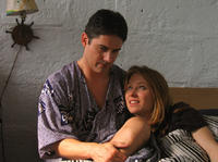 Zach Galligan and Pepper Binkley in