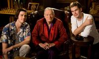 Trevor Moore, Hugh Hefner and Zach Cregger in