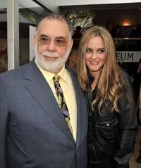 Director Francis Ford Coppola and Alicia Silverstone at the California premiere of